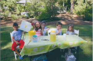 Frekko grandchildren selling lemonade - August 2013