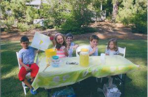 Frekko grandchildren selling lemonade - August 2013